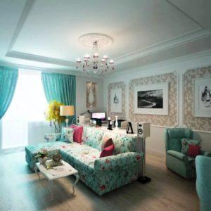дизайн гостинной - стильный ремонт
