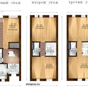 Готовый таунхаус в Бремене по цене маленькой квартиры!