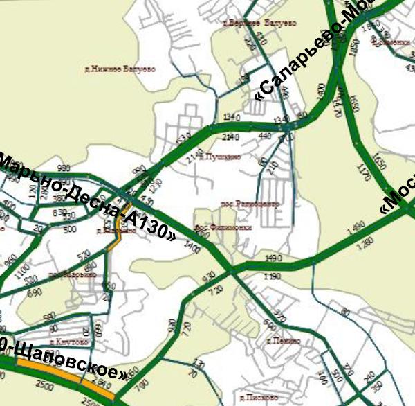Расположение скоростных автомагистралей и линий скоростного трамвая рядом с поселком Бремен